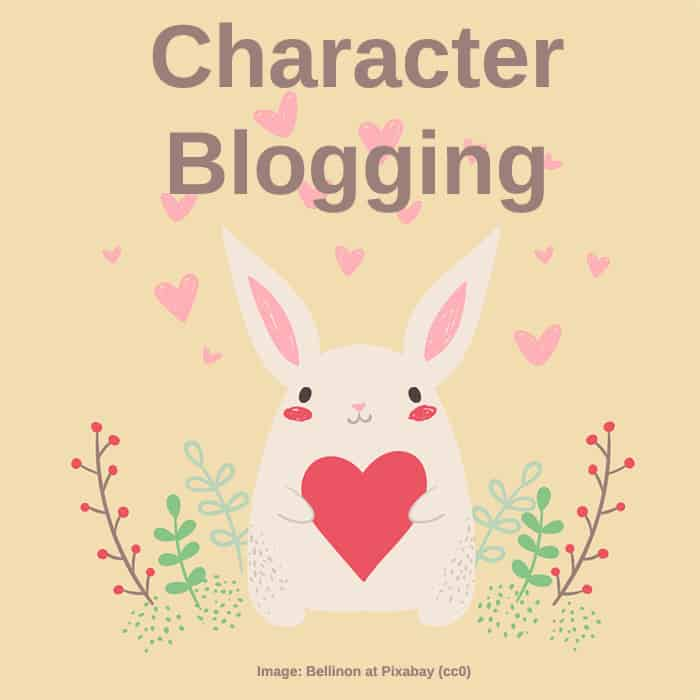 Topic: Character Blogging (image shows a little cute bunny character created in vector art)
